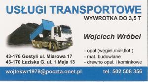 WOJCIECH WR�BEL US�UGI TRANSPORTOWE WYWROTKA  DO 3,5 T